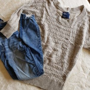 Tops - Wide neck knit sweater
